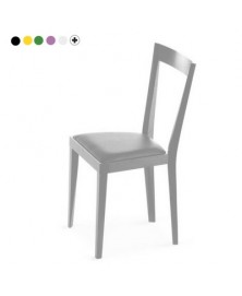 Livia - Chair with upholstered seat panel